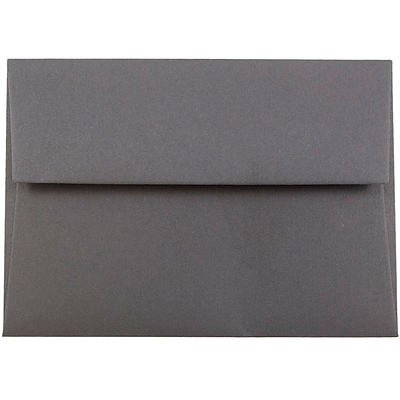 JAM Paper® 4Bar A1 Invitation Envelopes, 3.625 x 5.125, Dark Grey, 50/Pack (36396431I)