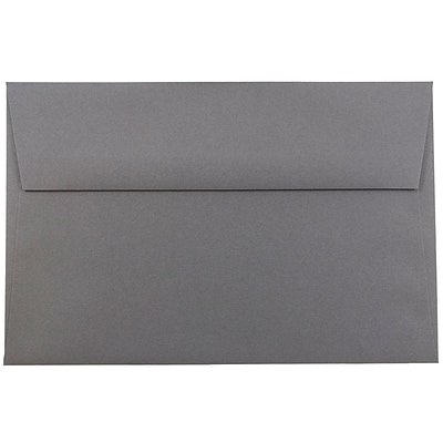 JAM Paper® A9 Invitation Envelopes, 5.75 x 8.75, Dark Grey, 250/box (36396436H)