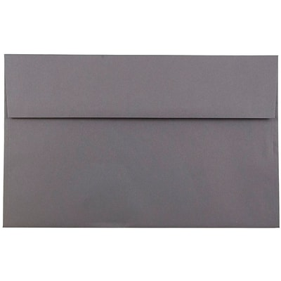 JAM Paper® A10 Invitation Envelopes, 6 x 9.5, Dark Grey, 25/pack (36396437)