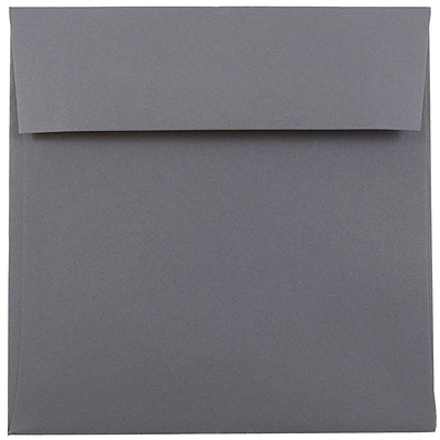 JAM Paper® 6 x 6 Square Invitation Envelopes, Dark Grey, 25/Pack (36396439)