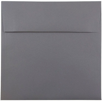 JAM Paper® 8.5 x 8.5 Square Envelopes, Dark Grey, 1000/carton (36396440B)