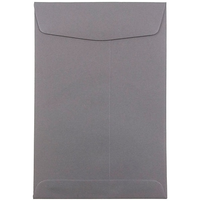 JAM Paper® 6 x 9 Open End Envelopes, Dark Grey, 10/pack (51285796B)