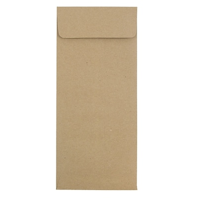 JAM Paper® #12 Policy Envelopes, 4.75 x 11, Brown Kraft Recycled, 50/pack (2119018862I)