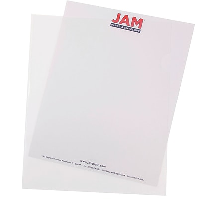 JAM Paper® Plastic Sleeves, 9 x 11.5, Clear, 120/box (2226316988B)