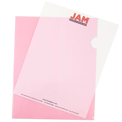 JAM Paper® Plastic Sleeves, 9 x 11.5, Red, 120/box (2226316989B)