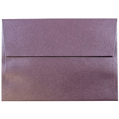 JAM Paper® A6 Invitation Envelopes, 4.75 x 6.5, Stardream Metallic Ruby Purple, 1000/carton (GCST654B)