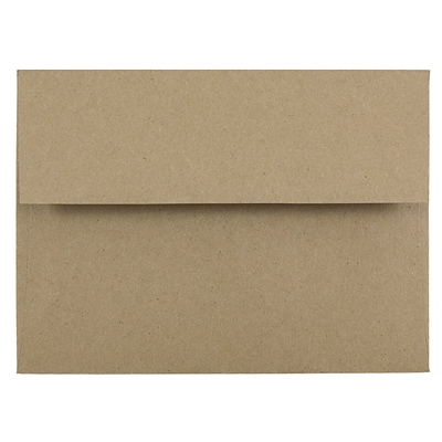 JAM Paper® A6 Invitation Envelopes, 4.75 x 6.5, Brown Kraft Paper Bag Recycled, 1000/carton (LEKR650B)