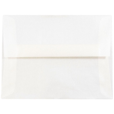 JAM Paper® A2 Invitation Envelopes, 4 3/8 x 5 3/4, Platinum Translucent Vellum, 250/box (PACV616H)