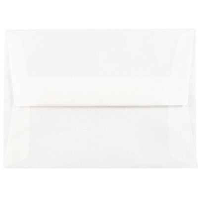 JAM Paper® A6 Invitation Envelopes, 4.75 x 6.5, Platinum Translucent Vellum, 50/pack (PACV666I)