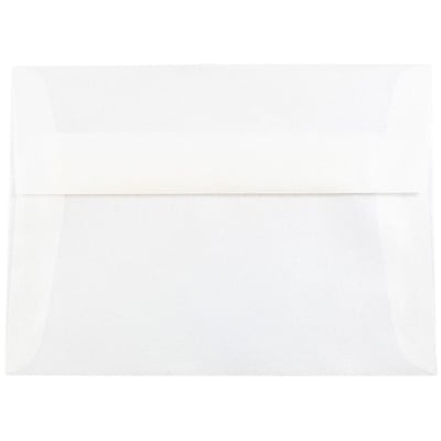 JAM Paper® A7 Invitation Envelopes, 5.25 x 7.25, Platinum Translucent Vellum, 250/box (PACV716H)