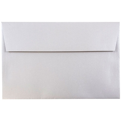 JAM Paper® A10 Invitation Envelopes, 6 x 9.5, Stardream Metallic Silver, 50/pack (SD5390 06I)