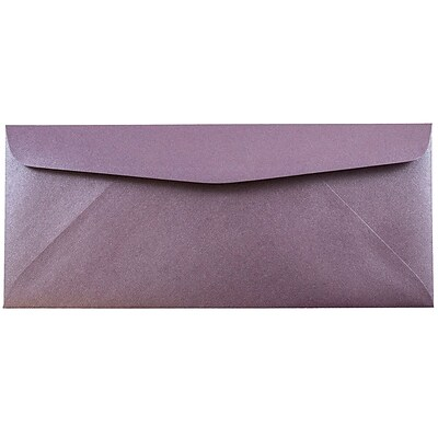 JAM Paper® #10 Business Envelopes, 4 1/8 x 9 1/2, Stardream Metallic Ruby Purple, 500/box (V018288H)