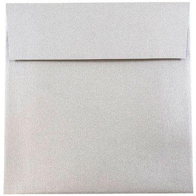 JAM Paper® 6 x 6 Square Envelopes, Stardream Metallic Silver, 250/box (V018307H)