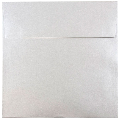 JAM Paper® 8.5 x 8.5 Square Envelopes, Stardream Metallic Silver, 50/pack (V018318I)