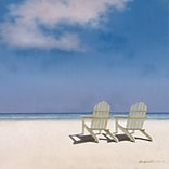 iCanvas Beach Chairs by Zhen-Huan Lu Painting Print on Wrapped Canvas; 12 H x 12 W x 0.75 D