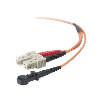 Belkin® F2F20297-03M 3 m MT-RJ to SC Male/Male OM1 Duplex Fiber Optic Patch Cable, Orange