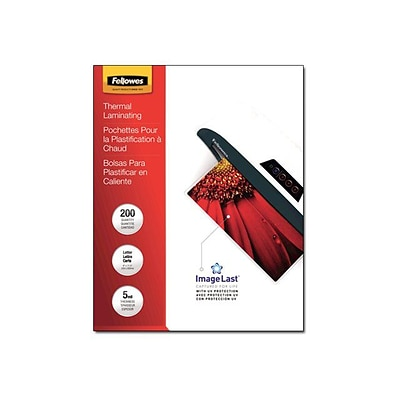 Fellowes® 5 Mil Laminating Pouch, Letter, 200/Pack (5245301)