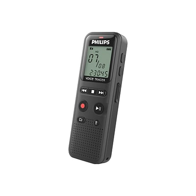 Philips DVT1150 4GB Voice Tracer Audio Recorder, Black