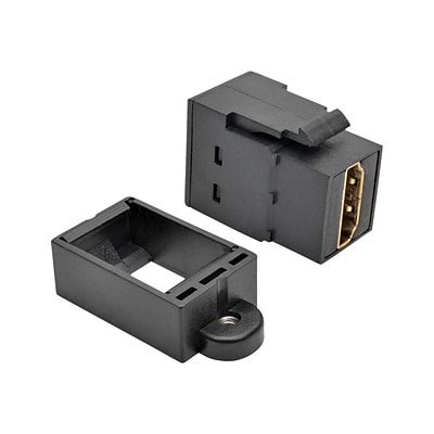 Tripp Lite P164-000-KP-BK HDMI All-in-One Keystone/Panel Mount Coupler, Black