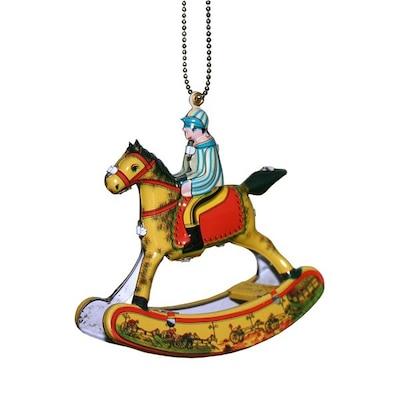 Alexander Taron Collectible Rocking Horse Tin Ornament