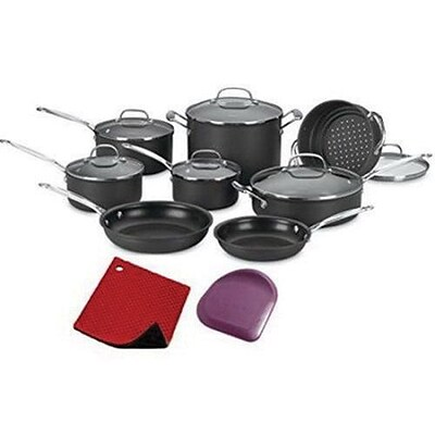Cuisinart® Chefs Classic™ Hard Anodized 14 Piece Cookware Set (66-14N)