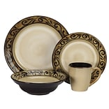 Cuisinart® CDST1-S4G5 Isere Collection Ceramic 16-Piece Stoneware Dinnerware