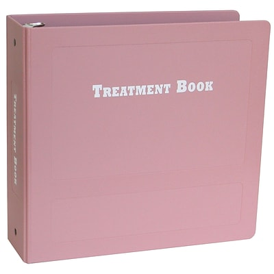 Omnimed 2.5 Inch Treatment Book - Mauve (205030)