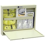 Omnimed Isolation Wall Desk with Combo Lock - Beige (291509-BG)