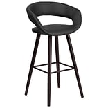 Flash Furniture Brynn Series 29 High Contemporary Black Vinyl Barstool with Wood Frame (CH-152560-