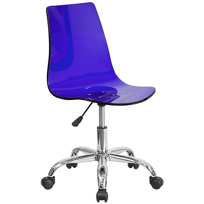 Flash Furniture Contemporary Transparent Blue Acrylic Task Chair with Chrome Base (CH-98018-BL-GG)