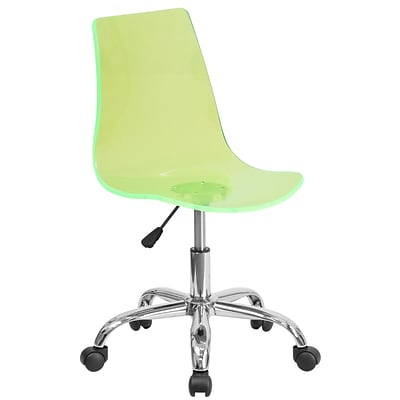 Flash Furniture Contemporary Transparent Green Acrylic Task Chair with Chrome Base (CH-98018-GN-GG)