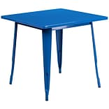 Flash Furniture 31.5 Square Blue Metal Indoor-Outdoor Table (ET-CT002-1-BL-GG)