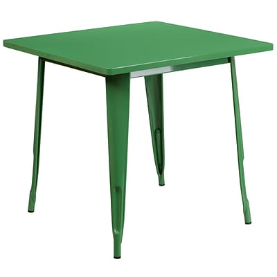 Flash Furniture 31.5 Square Green Metal Indoor-Outdoor Table (ET-CT002-1-GN-GG)