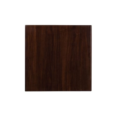 Flash Furniture 24 Square Resin Walnut Table Top (TP-WAL-2424-GG)