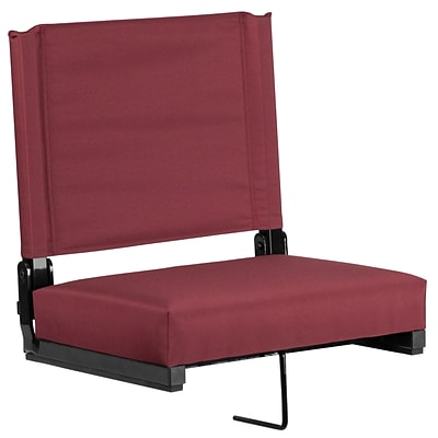 Flash Furniture Game Day Seats; by Flash with Ultra-Padded Seat in Maroon (XU-STA-M-GG)
