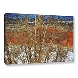 ArtWall Red Yellow Willow by Chris Vest Painting Print on Wrapped Canvas; 24 H x 36 W x 2 D