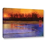 ArtWall Frozen Summit by Chris Vest Painting Print on Wrapped Canvas; 24 H x 36 W x 2 D
