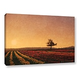 ArtWall Lone Tree Tulips by Chris Vest Photographic Print on Wrapped Canvas; 32 H x 48 W x 2 D