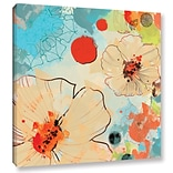 ArtWall Beautiful Flowers I by Irena Orlov Painting Print on Wrapped Canvas; 14 H x 14 W x 2 D