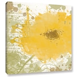 ArtWall Modern Yellow by Irena Orlov Painting Print on Wrapped Canvas; 14 H x 14 W x 2 D