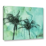 ArtWall Palm Trees 2 by Irena Orlov Painting Print on Wrapped Canvas; 14 H x 18 W x 2 D
