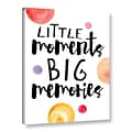 ArtWall Little Moments by Amy Cummings Textual Art on Wrapped Canvas; 32 H x 24 W x 2 D