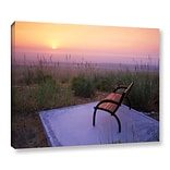 ArtWall Peach Sunset by Dennis Frates Photographic Print on Wrapped Canvas; 24 H x 32 W x 2 D