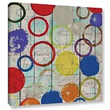 ArtWall Rainbow Circles I by Irena Orlov Painting Print on Wrapped Canvas; 14 H x 14 W x 2 D