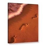 ArtWall Footprints by Dennis Frates Photographic Print on Wrapped Canvas; 18 H x 14 W x 2 D