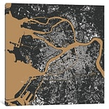 iCanvas Urbanmap St. Petersburg Graphic Art on Wrapped Canvas; 37 H x 37 W x 0.75 D