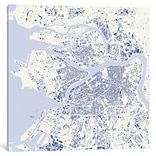 iCanvas Urbanmap St. Petersburg Graphic Art on Wrapped Canvas; 37 H x 37 W x 1.5 D