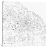 iCanvas Urbanmap Shanghai Roadway Graphic Art on Wrapped Canvas; 12 H x 12 W x 1.5 D