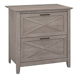 Bush Furniture Key West Lateral File; Washed Gray (KWF130WG-03)