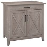 Bush Furniture Key West Laptop Storage Desk Credenza; Washed Gray (KWS132WG-03)